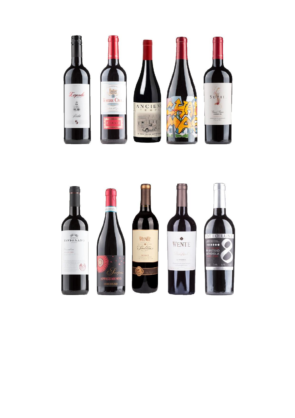 Flaschen Weinprobe November18